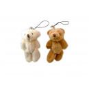 wholesale Dolls &Plush:Plush bear pendant 8cm