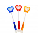 Blinking stick heart with bow 41cm