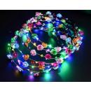 Großhandel Leuchtmittel: LED leuchtend Blumenkranz Ø18,5cm