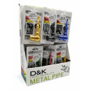 Metal tobacco pipes with grinder & filter