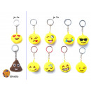 grossiste Porte-cles: Smiley Keychain émoticône  Mix , 7cm
