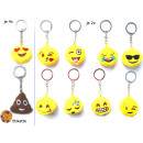 grossiste Porte-cles: Smiley Keychain émoticône  Mix , 9cm