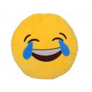 Großhandel Kissen & Decken: Smiley Kissen Emoticon lachend , 35cm