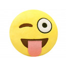 wholesale Cushions & Blankets: Smiley Pillows Emoticon wink tongue , 35cm