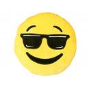 grossiste Maison et habitat: Smiley oreiller  émoticône  cool , 35cm