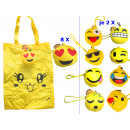 Smiley Tasche  Emoticon   Mix  , 30cm x 40cm