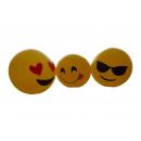 Großhandel Bälle & Schläger: Spielball mit Emoticon, 25cm