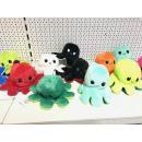 Großhandel Spielwaren: Oktopus Plüschtier doppelseitiges Flip, 20cm