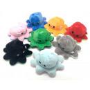 Großhandel Puppen & Plüsch: Oktopus Plüschtier doppelseitiges Flip, 20cm