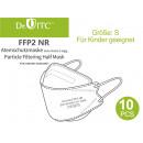 Atemschutzmaske, Mundschutz FFP2 Größe S, 10er