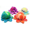 Großhandel Puppen & Plüsch: Oktopus Plüsch doppelseitiges Flip, Marmor, 20cm