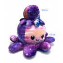 Großhandel Puppen & Plüsch: Oktopus Plüschtier doppelseitiges Flip 40cm Himmel