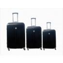 Großhandel Koffer & Trolleys: Reisekoffer 3er Hartschale schwarz