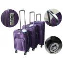 Kofferset 3tlg mit  Kofferschlösser und 8 Rollen