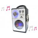 grossiste Hi-Fi & Audio: Président bois  portable, blanc; 23 * 17 * 14CM