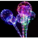 wholesale Light Garlands: LED balloon Ø40cm with bar and flashing functions