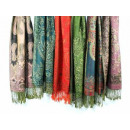 Mixed Lots patterned scarves subtle color