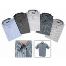 Business Short Sleeve Shirts Checked cotton NEW