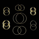 mayorista Joyas y relojes: Dorado Pendientes aros Pendientes Gran Diseño