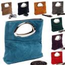 grossiste Sacs à main: Made in Italy Suede sac à main dans de nombreuses