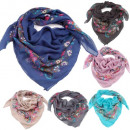 wholesale Scarves & Shawls: SquareScarf with plant motif |