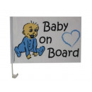 Car Window Flag BABY ON BOARD Car Flag