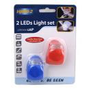 Lampki rowerowe silikon LED 2 szt