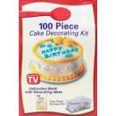 Zestaw do dekoracji ciast TV 100 części