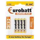 Baterie Alkaline Plus R3 AAA 4 szt