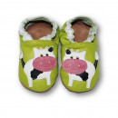 wholesale Shoes: Leather slippers  with soft soles - cow