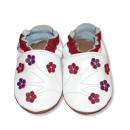 wholesale Shoes: Leather slippers  with soft soles - BLOOMING SAD