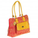 Großhandel Taschen & Reiseartikel: Schultertasche aus  Leder Jackard - Synthetische