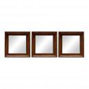 grossiste Miroirs: SET 3 MIROIRS 26,5X26,5CM BOIS