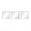 grossiste Miroirs: MIROIRS  26,5X26,5CM 3 EFFACER SET