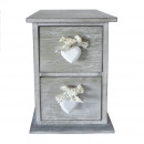 CABINET 2 DRAWER HEART