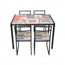 Table de jeu avec 4 chaises décoration de table al