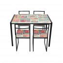 Table de jeu avec 4 chaises table décoration de fr