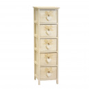 Narrow cabinet 5 drawers gray heart 26 x 32 x 9