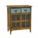 Furniture 2 drawers 2 doors blue 56 x 30.5 x 64.5