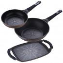 Pack 3 Padelle: 20 cm + + wok Ferro