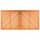 Définissez des palettes en bois étanches: 2 unités