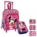 Children's Minnie Set: Backpack with wheels an