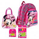 Set Minnie : Bag shoulder bag, pencils and waxes