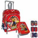 Set Paw Patrol Infant: Backpack with wheels and pl