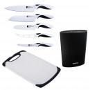 grossiste Jeux de Couteaux: Bergner noir et  blanc - ensemble de 5 couteaux en