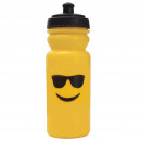 wholesale Lunchboxes & Water Bottles: PLASTIC BOTTLE  600ML EDITION  EMOTICON - GLASSES ...