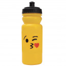 wholesale Lunchboxes & Water Bottles: PLASTIC BOTTLE  600ML EDITION EMOTICON - Beso COR