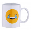 GRES 33CL WHITE MUG LAUGH EMOTICON