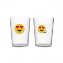 wholesale Houshold & Kitchen: 50CL GLASS EYES HEART EMOTICON