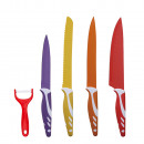 SET 5 MULTICOLOR KNIVES STAINLESS STEEL - COLO